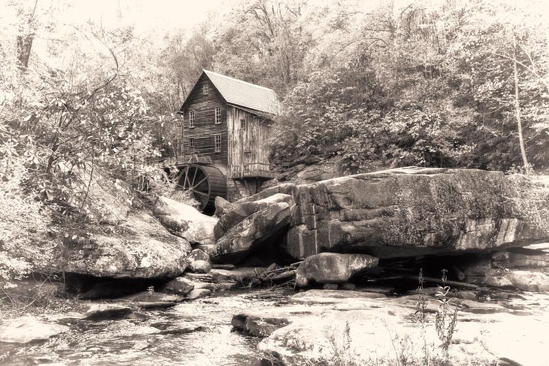 Glade Creek Grist Mill, WV 04 bw