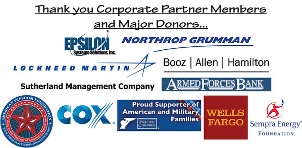 Thank you 2011 Corporate Partner Members to the San Diego Armed Services YMCA
