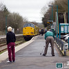 97301 and 97302 are viewed by enthusiasts and passers by alike at Llandeilo whilst pausing with 1Z39 06.18 Eastleigh to Llandrindod Wells Pathfinder Railtours 'The Heart of Wales Wanderer' on 18th March 2017.