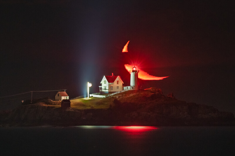 Nubble Lighthouse Moonrise