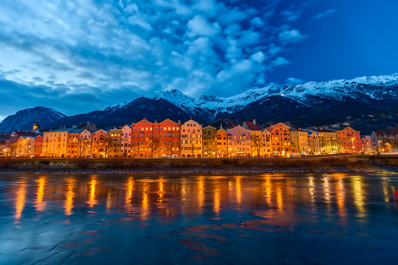Colorful houses of Innsbruck, Austria