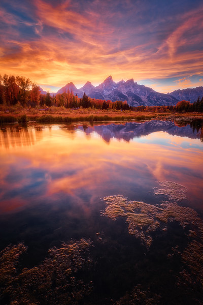 Vibrant Sunset - Grand Teton National Park
