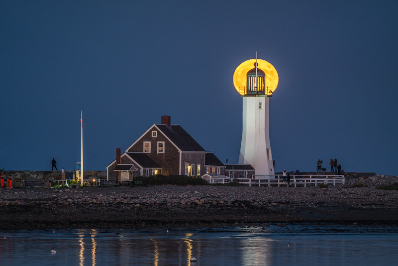Full Moon over Scituate Lighthouse