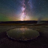 Night sky of Yellowstone National Park