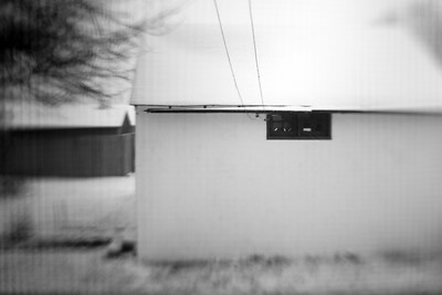 Garage Through a Window---Norristown, PA