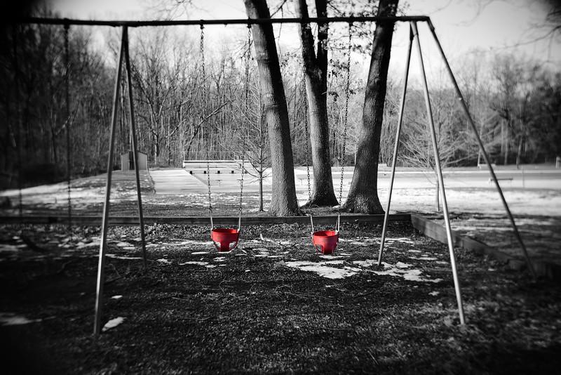 Red Swings---Columbia, NJ
