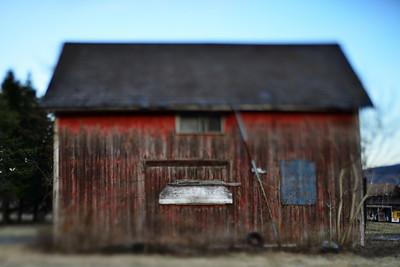 Weathered Red Barn---Bethlehem, PA