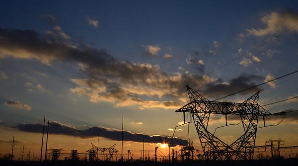Industrial Sunset---Souderton, PA