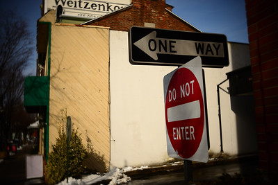 One Way Do Not Enter---Pottstown, PA