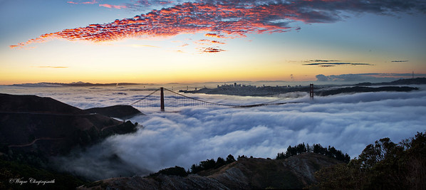 San Francisco Sunrise 2 10/6/2012 - Fleet Week  And then the clouds lit up. What a Show!