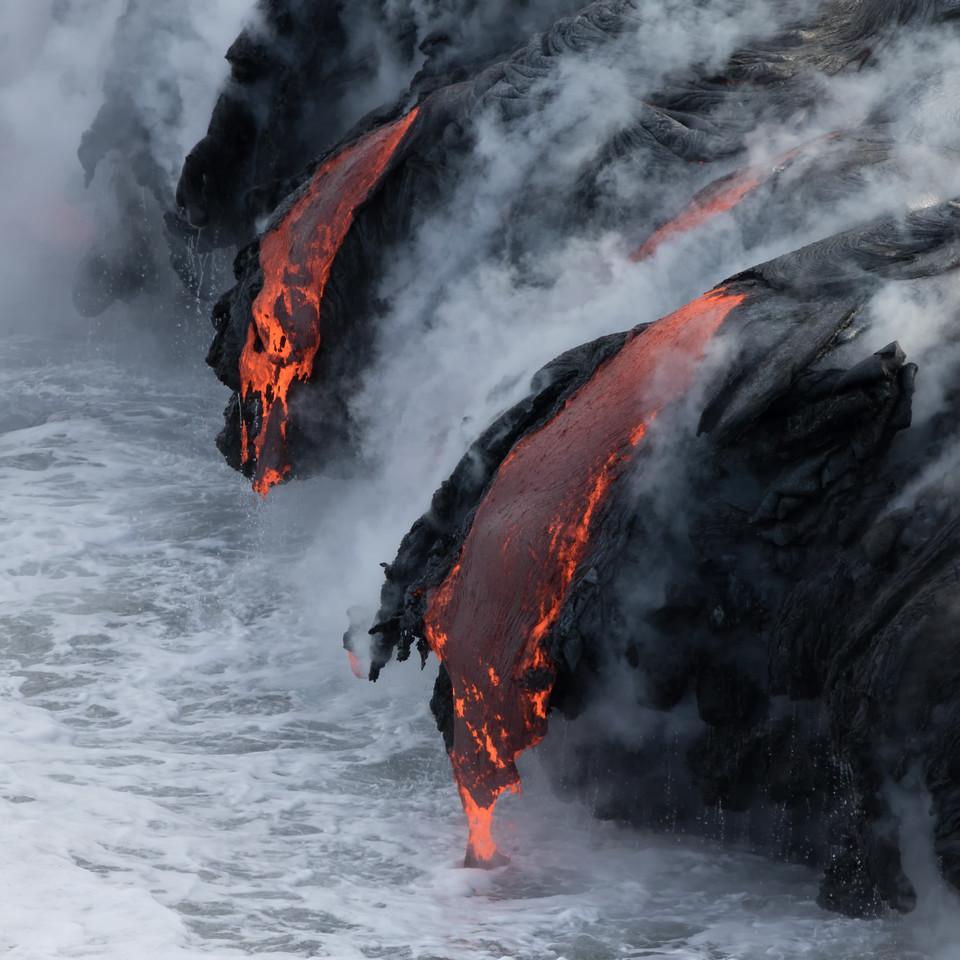 """""""Kamokuna""""<br /> (Kamokuna ocean entry, Hawaii Volcanoes National Park 08/21/2016)"""
