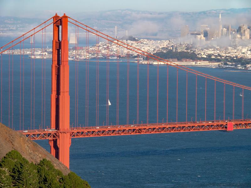 Golden Gate Bridge and San Francisco in the fog