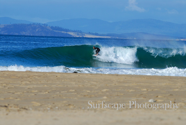Sunny day fun at small Wedge, Tasmania