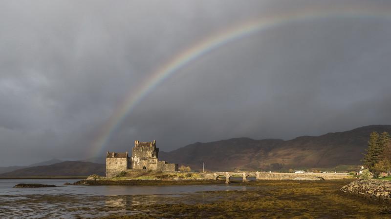 Rainbow Over Donan.