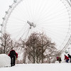 London Eye Snow