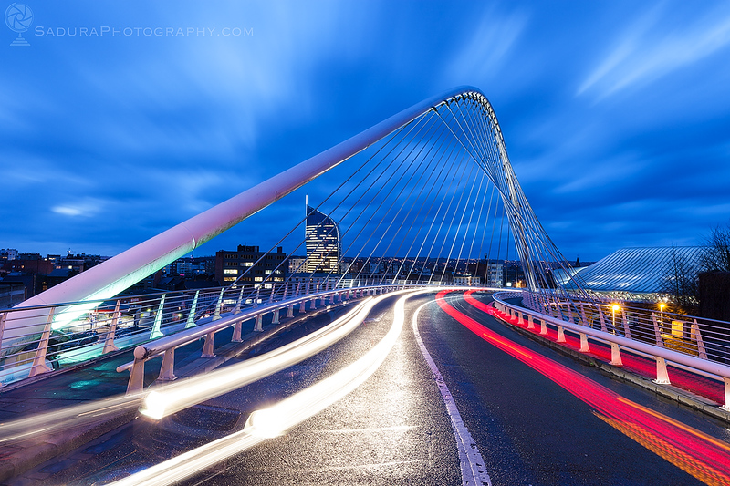 Santiago Calatrava Bridge in Liege