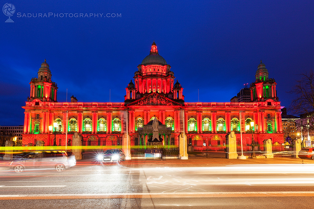 Illuminated Belfast City Hall