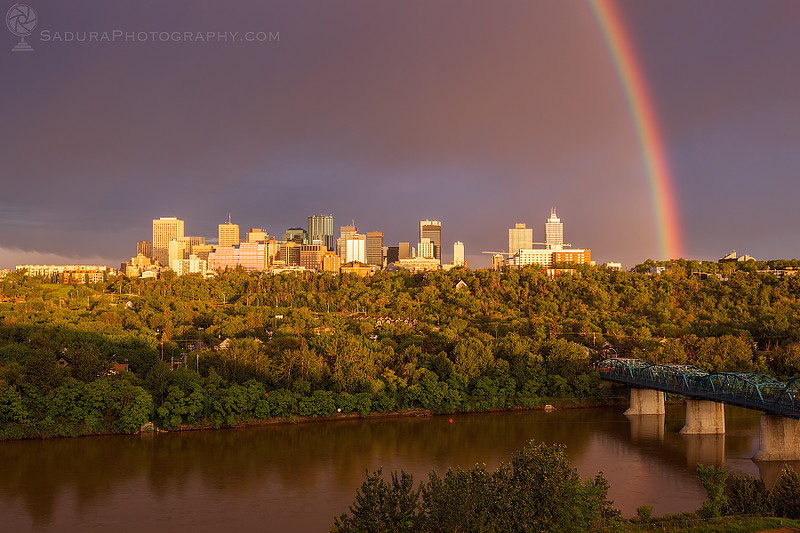Rainbow over Edmonton