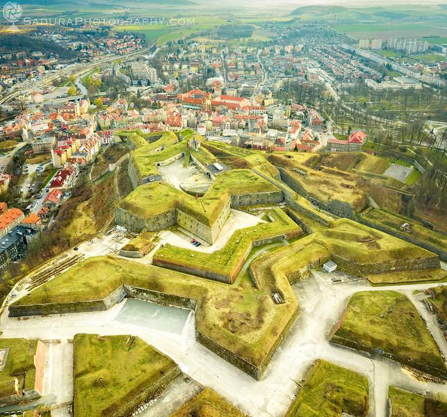 Klodzko Fortress - aerial view