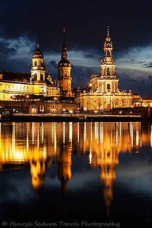 Dramatic sunset in Dresden