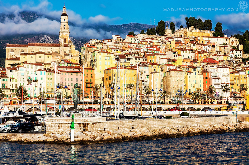 Colorful architecture of Menton
