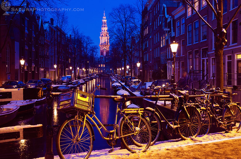 Blue Amsterdam in January