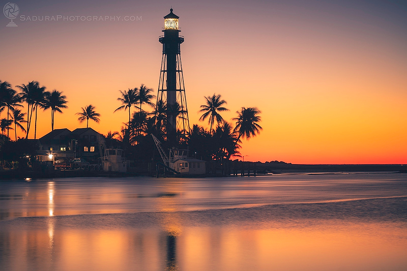 Hillsboro Inlet Lighthouse at sunrise