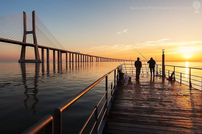 Vasco da Gama Bridge in Lisbon