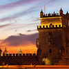 Belem Tower (Tower of St Vincent) at sunset