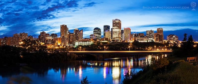 Skyline of Edmonton