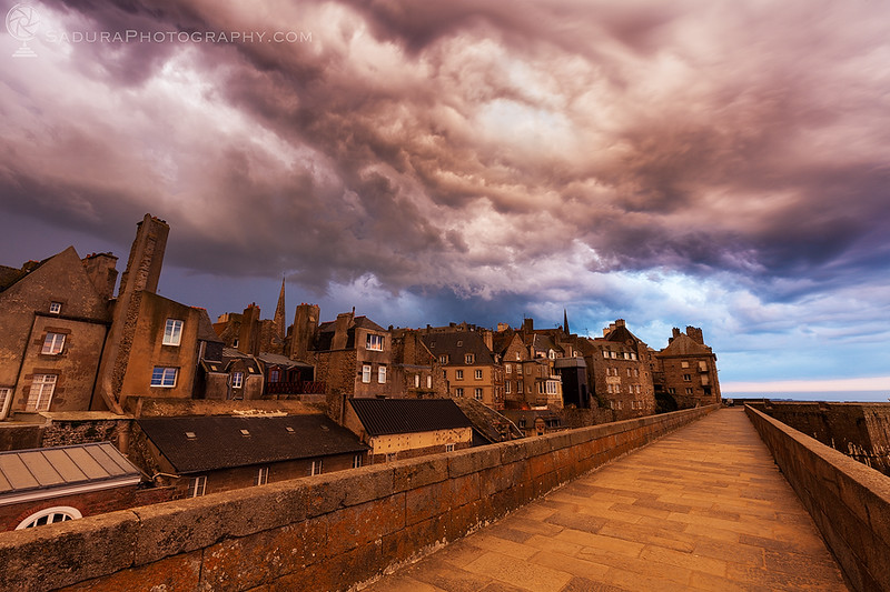 Dramatic sky in St-Malo