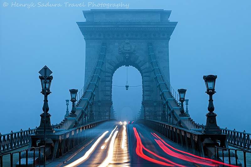 Morning traffic on Chain Bridge.
