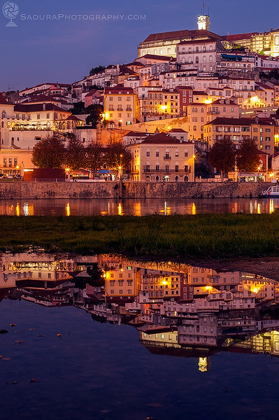 Panorama of Coimbra across Mondego River