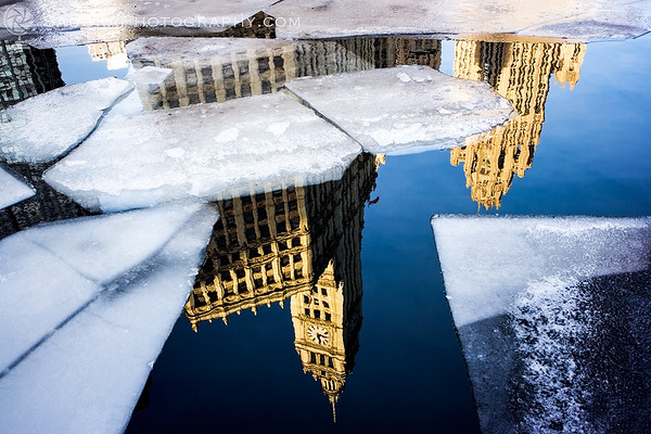 Wrigley Building reflected in Chicago River