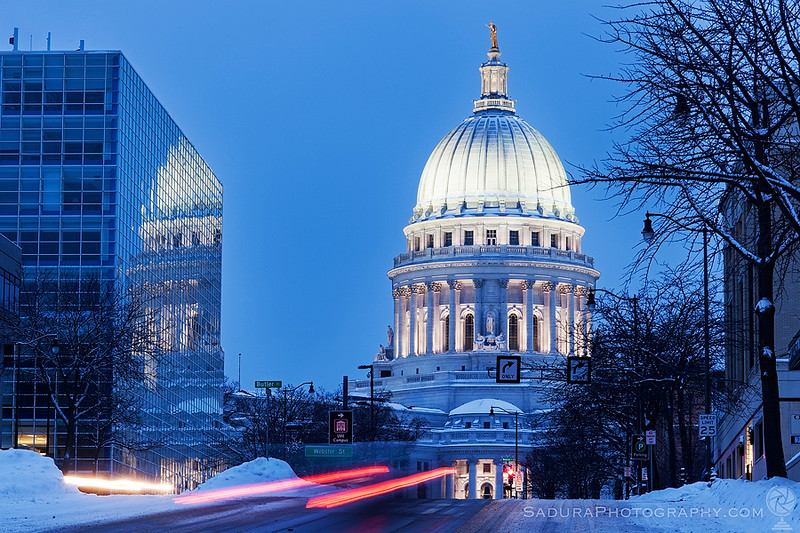 Madison, Wisconsin, USA - State Capitol Building