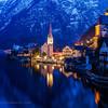 Blue evening in Hallstatt