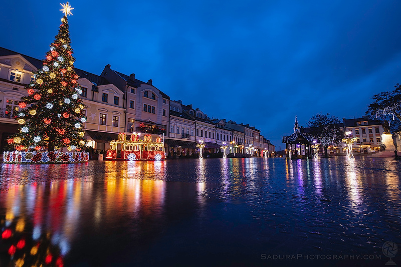 Rainy Christmas in Rzeszow