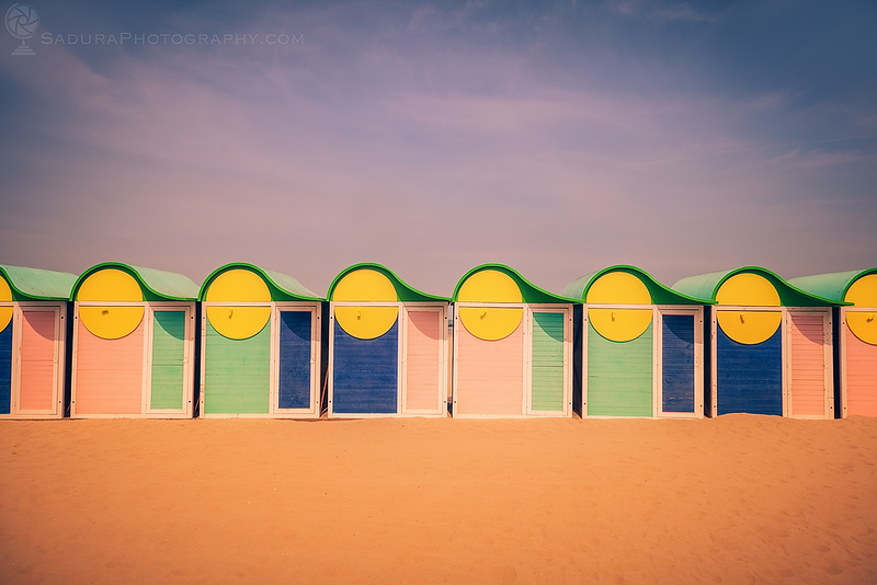 Beach cabins in Dunkirk