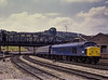 45005 arriving at Bristol Temple Meads with 1E60, the 10:05 Paignton - Leeds, <br /> on 23rd July 1983. Scanned Transparency.