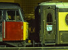 """47776 """"Respected"""" and Pullman Car """"Lucille"""" at Woking on 13th December 2002. <br /> Scanned Transparency."""