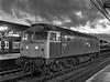 47213 stabled between platforms 8 & 9 at Reading, on 6th April 1985. <br /> Scanned Negative.