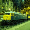 47605 at Liverpool Street with the 17:30 service from Kings Lynn, on 22nd November 1986. Scanned Transparency.