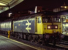 """47572 """"Ely Cathedral"""" shunting vans at Reading, on 13th September 1989.<br /> Scanned Transparency."""
