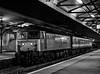 "47712 ""Lady Diana Spencer"" at Basingstoke, after arriving with the <br /> 19:18 Salisbury - Basingstoke, vice DEMU, on 31st December 1991. Scanned Negative."