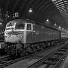 47492 at Paddington with the 09:32 Penzance - Paddington, on 1st December 1984.  <br /> Scanned Negative.