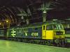 "47636 ""Sir John de Graeme"" at Paddington after arrival with the 19:37 Banbury - Paddington, on 23rd April 1992. Scanned Transparency."
