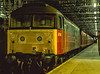 """47489 """"Crewe Diesel Depot"""" at Paddington, having brought in the ECS for 1B80, <br /> the 22:56 Paddington - Swansea TPO, on 3rd April 1992. Scanned Transparency."""