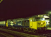 "50045 ""Achilles"" at Reading with 1B74,  the 23:57 Paddington - Penzance, on 2nd July 1983. Scanned Transparency."