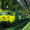 "50019 ""Ramillies"" on the blocks at Paddington, on 1st December 1984. <br /> Scanned Transparency."
