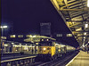 "50039 ""Implacable"" at Woking with 1V19, the 19:10 Waterloo - Exeter St Davids, <br /> on 30th December 1982. Scanned Transparency."